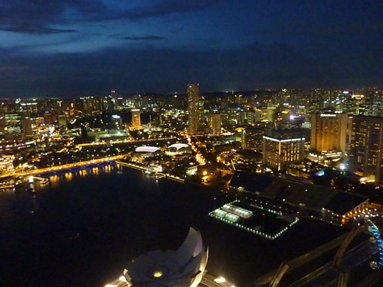 city at night, view from Sky Park 3