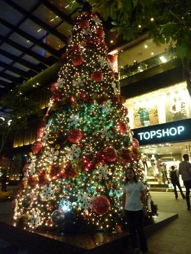 Christmas Tree at Orchard Road.. ornamen Natal sepanjang jalan keren-keren...