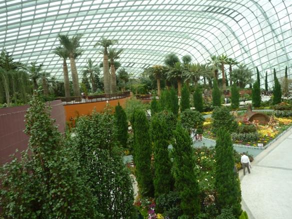 the garden doom.. dilengapi atap kaca rendh emisi dengan panel khusus yang bergerak otomatis saat matahari bersinar terlalu terik